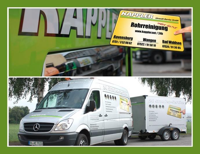 Kappler Umwelt-Service GmbH Rohrreinigung Kanalreinigung Baindt Ravensburg Stuttgart Esslingen
