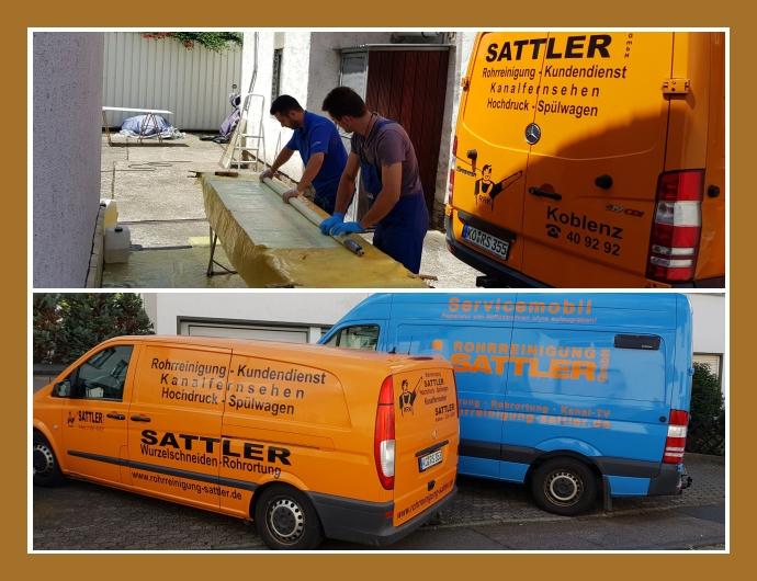 Rohrreinigung Sattler GmbH Koblenz Neuwied Limburg an der Lahn Abflussreinigung Kanalsanierung Hochdruck-Rohrreinigung