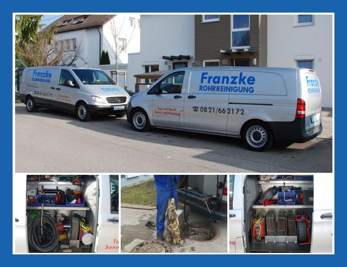 Franzke Rohrreinigung - Notdienst in Augsburg nahe Friedberg, Fürstenfeldbruck, München