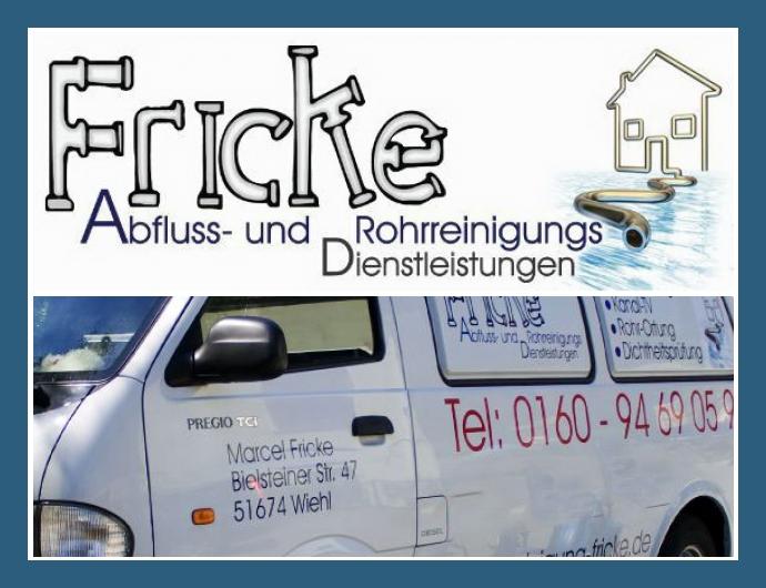Fricke Abfluss- und Rohrreinigungsdienstleistungen in Wiehl nahe Köln, Gummersbach