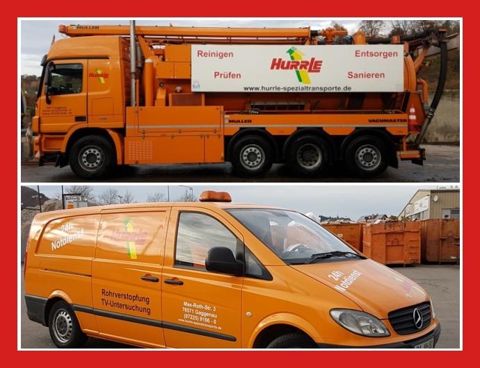 Hurrle Spezial-Transporte GmbH - Rohrreinigung in Gaggenau nahe Karlsruhe, Rastatt, Baden-Baden