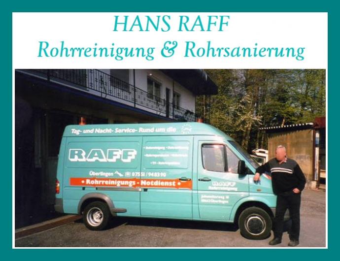 Rohrreinigung & Rohrsanierung RAFF - Notdienst in Überlingen nahe Friedrichshafen, Konstanz, Ravensburg