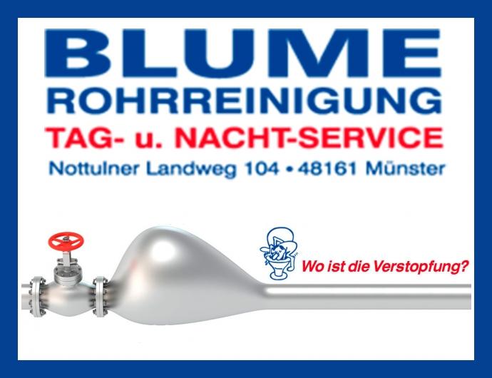 Rohrreinigung Blume - Notdienst in Münster, Bielefeld, Dortmund, Essen