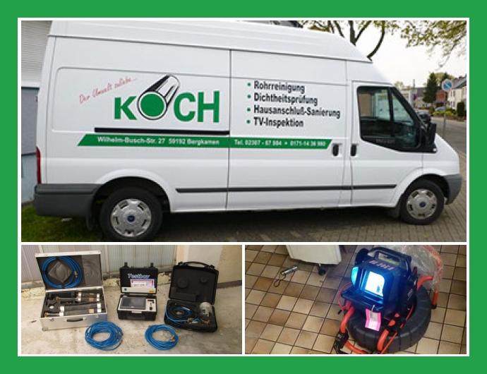 Rohrreinigung Koch - 24h Notdienst in Bergkamen nahe Dortmund, Unna, Hamm