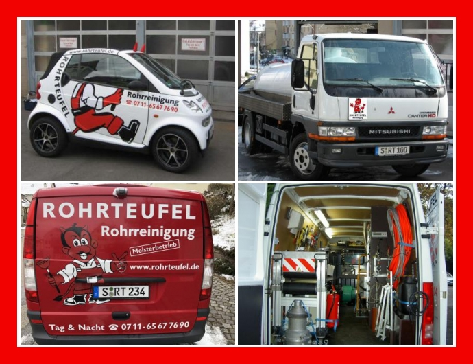 Rohrteufel Ihr Rohrreiniger - Notdienst in Stuttgart, Ludwigsburg, Karlsruhe, Böblingen