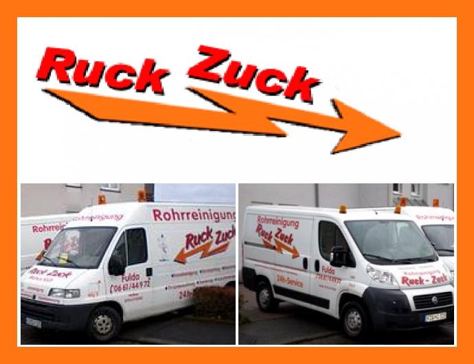 Ruck Zuck Rohr- und Kanalreinigung - Notdienst in Petersberg, Kassel, Fulda, Eisenach