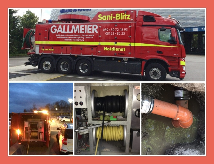 Sani Blitz Chr. Gallmeier GmbH - Rohrreinigung in Moosinning nahe München, Dachau, Germering